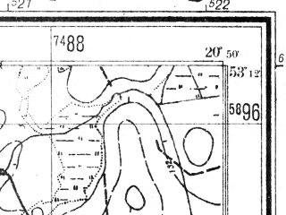 Reduced fragment of topographic map de--mb--025k--28_090--(1941)--N053-12_E020-40--N053-06_E020-50