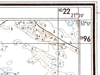 Reduced fragment of topographic map de--mb--025k--28_093--(1944)--N053-12_E021-10--N053-06_E021-20