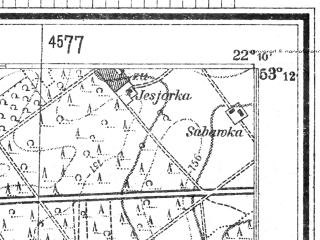 Reduced fragment of topographic map de--mb--025k--28_098--(1944)--N053-12_E022-00--N053-06_E022-10; towns and cities Lomza
