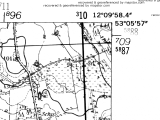 Reduced fragment of topographic map de--mb--025k--29_038-ams--(1952)--N053-06_E012-00--N053-00_E012-10