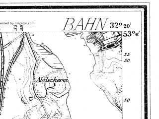Reduced fragment of topographic map de--mb--025k--29_053--(1900)--N053-06_E014-30--N053-00_E014-40; towns and cities Swobnica