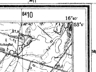 Reduced fragment of topographic map de--mb--025k--29_065--(1940)--N053-06_E016-30--N053-00_E016-40