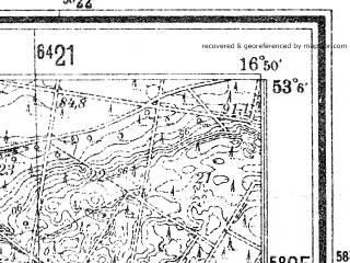 Reduced fragment of topographic map de--mb--025k--29_066--(1944)--N053-06_E016-40--N053-00_E016-50