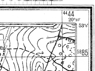 Reduced fragment of topographic map de--mb--025k--29_086--(1944)--N053-06_E020-00--N053-00_E020-10