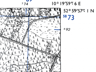 Reduced fragment of topographic map de--mb--025k--30_027-ams--(1955)--N053-00_E010-10--N052-54_E010-20