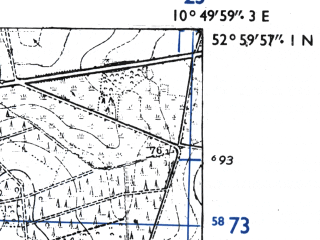 Reduced fragment of topographic map de--mb--025k--30_030-ams--(1955)--N053-00_E010-40--N052-54_E010-50