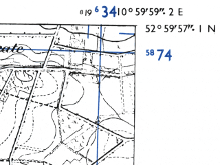 Reduced fragment of topographic map de--mb--025k--30_031-ams--(1955)--N053-00_E010-50--N052-54_E011-00