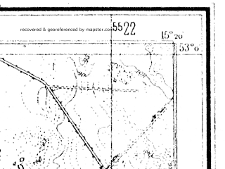 Reduced fragment of topographic map de--mb--025k--30_057--(1938)--N053-00_E015-10--N052-54_E015-20; towns and cities Barlinek