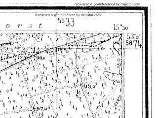 Reduced fragment of topographic map de--mb--025k--30_058--(1936)--N053-00_E015-20--N052-54_E015-30