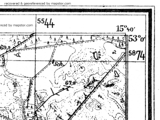 Reduced fragment of topographic map de--mb--025k--30_059--(1934)--N053-00_E015-30--N052-54_E015-40