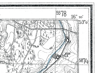 Reduced fragment of topographic map de--mb--025k--30_062--(1934)--N053-00_E016-00--N052-54_E016-10