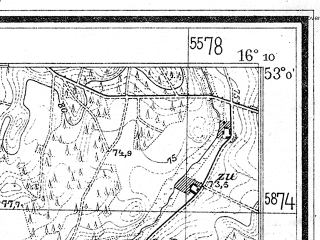 Reduced fragment of topographic map de--mb--025k--30_062--(1944)--N053-00_E016-00--N052-54_E016-10