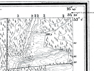 Reduced fragment of topographic map de--mb--025k--30_065--(1926)--N053-00_E016-30--N052-54_E016-40; towns and cities Czarnkow
