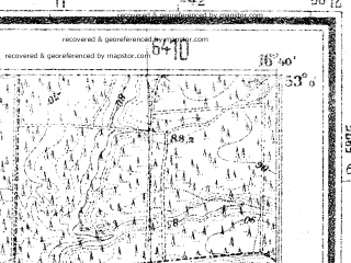 Reduced fragment of topographic map de--mb--025k--30_065--(1938)--N053-00_E016-30--N052-54_E016-40; towns and cities Czarnkow