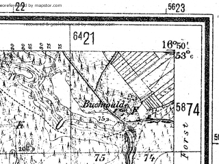 Reduced fragment of topographic map de--mb--025k--30_066--(1941)--N053-00_E016-40--N052-54_E016-50