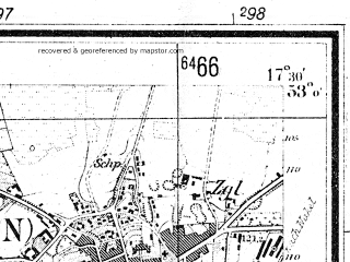 Reduced fragment of topographic map de--mb--025k--30_070--(1936)--N053-00_E017-20--N052-54_E017-30; towns and cities Kcynia