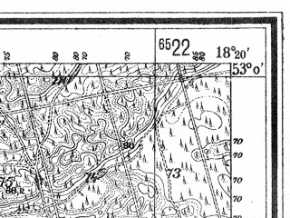 Reduced fragment of topographic map de--mb--025k--30_075--(1940)--N053-00_E018-10--N052-54_E018-20