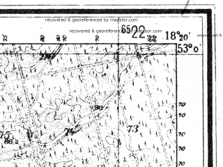 Reduced fragment of topographic map de--mb--025k--30_075--(1945)--N053-00_E018-10--N052-54_E018-20