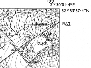 Reduced fragment of topographic map de--mb--025k--31_010-ams--(1955)--N052-54_E007-20--N052-48_E007-30