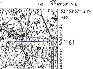 Reduced fragment of topographic map de--mb--025k--31_024-ams--(1955)--N052-54_E009-40--N052-48_E009-50