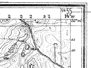 Reduced fragment of topographic map de--mb--025k--31_051--(1946)--N052-54_E014-10--N052-48_E014-20