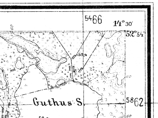 Reduced fragment of topographic map de--mb--025k--31_052--(1947)--N052-54_E014-20--N052-48_E014-30
