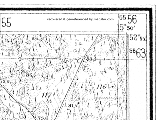 Reduced fragment of topographic map de--mb--025k--31_060--(1936)--N052-54_E015-40--N052-48_E015-50
