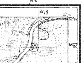 Reduced fragment of topographic map de--mb--025k--31_062--(1941)--N052-54_E016-00--N052-48_E016-10; towns and cities Krzyz
