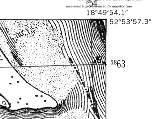 Reduced fragment of topographic map de--mb--025k--31_078-ams--(1952)--N052-54_E018-40--N052-48_E018-50; towns and cities Aleksandrow Kujawski, Ciechocinek