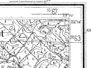 Reduced fragment of topographic map de--mb--025k--31_079--(1944)--N052-54_E018-50--N052-48_E019-00; towns and cities Nieszawa