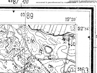 Reduced fragment of topographic map de--mb--025k--31_081--(1944)--N052-54_E019-10--N052-48_E019-20; towns and cities Lipno
