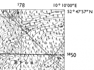 Reduced fragment of topographic map de--mb--025k--32_026-ams--(1955)--N052-48_E010-00--N052-42_E010-10