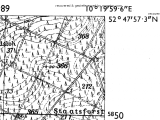 Reduced fragment of topographic map de--mb--025k--32_027-ams--(1955)--N052-48_E010-10--N052-42_E010-20