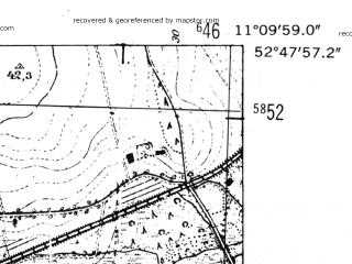 Reduced fragment of topographic map de--mb--025k--32_032-ams--(1952)--N052-48_E011-00--N052-42_E011-10