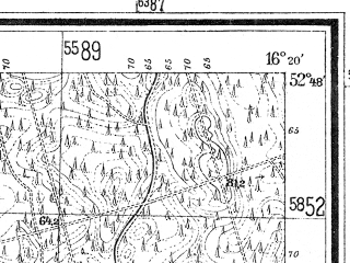 Reduced fragment of topographic map de--mb--025k--32_063--(1940)--N052-48_E016-10--N052-42_E016-20