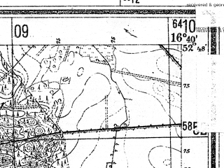 Reduced fragment of topographic map de--mb--025k--32_065--(1944)--N052-48_E016-30--N052-42_E016-40