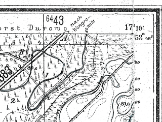 Reduced fragment of topographic map de--mb--025k--32_068--(1944)--N052-48_E017-00--N052-42_E017-10; towns and cities Rogogzno