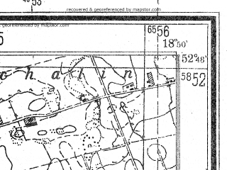 Reduced fragment of topographic map de--mb--025k--32_078--(1944)--N052-48_E018-40--N052-42_E018-50