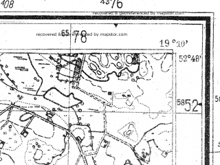 Reduced fragment of topographic map de--mb--025k--32_080--(1944)--N052-48_E019-00--N052-42_E019-10