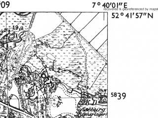 Reduced fragment of topographic map de--mb--025k--33_011-ams--(1955)--N052-42_E007-30--N052-36_E007-40