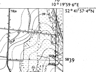 Reduced fragment of topographic map de--mb--025k--33_027-ams--(1955)--N052-42_E010-10--N052-36_E010-20
