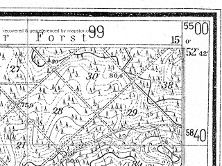 Reduced fragment of topographic map de--mb--025k--33_055--(1934)--N052-42_E014-50--N052-36_E015-00