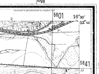 Reduced fragment of topographic map de--mb--025k--33_064--(1944)--N052-42_E016-20--N052-36_E016-30