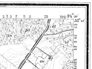 Reduced fragment of topographic map de--mb--025k--33_066--(1900)--N052-42_E016-40--N052-36_E016-50; towns and cities Oborniki