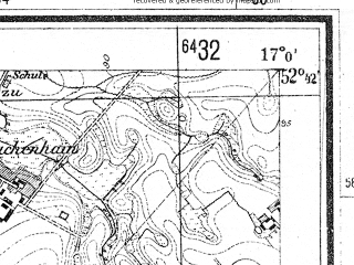 Reduced fragment of topographic map de--mb--025k--33_067--(1944)--N052-42_E016-50--N052-36_E017-00