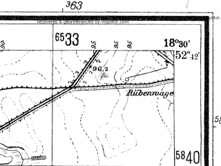 Reduced fragment of topographic map de--mb--025k--33_076--(1944)--N052-42_E018-20--N052-36_E018-30; towns and cities Kruszwica