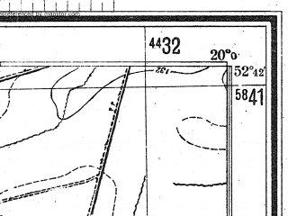 Reduced fragment of topographic map de--mb--025k--33_085--(1944)--N052-42_E019-50--N052-36_E020-00