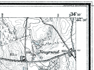 Reduced fragment of topographic map de--mb--025k--34_068--(1911)--N052-36_E017-00--N052-30_E017-10; towns and cities Murowana Goslina