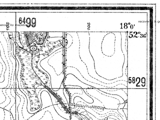 Reduced fragment of topographic map de--mb--025k--34_073--(1940)--N052-36_E017-50--N052-30_E018-00