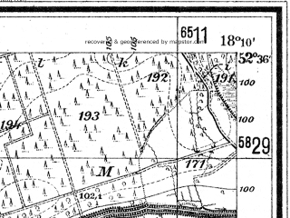 Reduced fragment of topographic map de--mb--025k--34_074--(1940)--N052-36_E018-00--N052-30_E018-10; towns and cities Orchowo